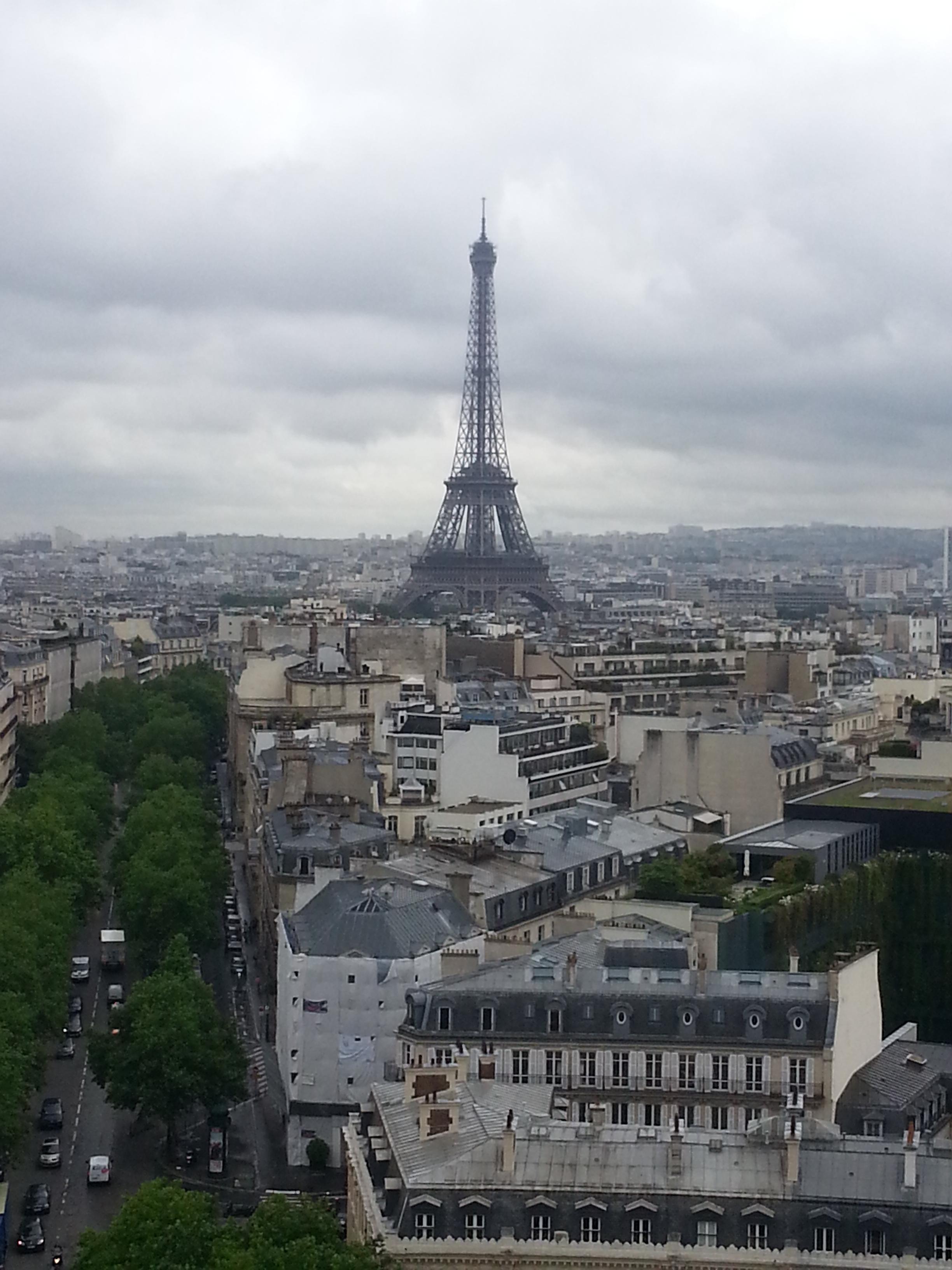 Blick vom Arc de Triomphe zum Eiffelturm