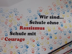 courage im Treppenhaus