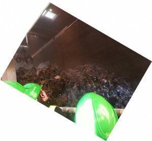 Müllsammelhalle